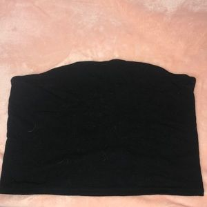 Solid Black Wild Fable Tube Crop Top